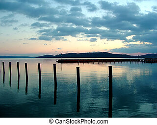 Lake Balaton - Sundown at the Lake Balaton, Hungary