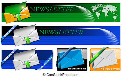 Newsletter Web Banner Collection - Four newsletter concept...
