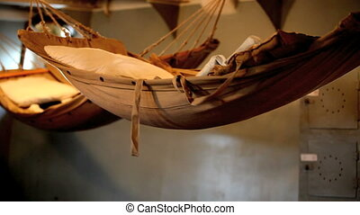 ship bed - old ship, a sailor's cabin, bed