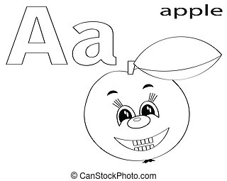 Coloring Alphabet for Kids,A