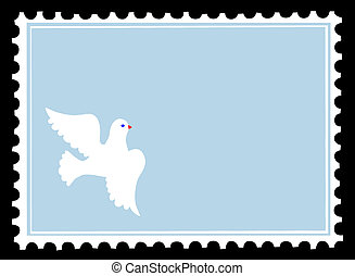 silhouette dove on postage stamps - silhouette dove on...
