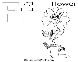 Coloring Alphabet for Kids,F
