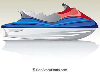 aquabike jet ski vector illustration