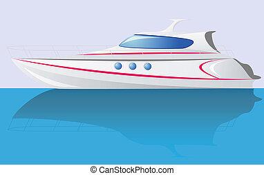 white speed yacht