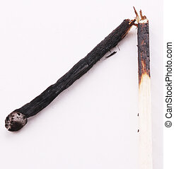 match - A broken and burned match