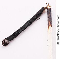 match - A broken and burned match