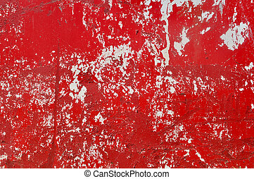 Red Metal Textured Background