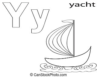 Coloring Alphabet for Kids,Y