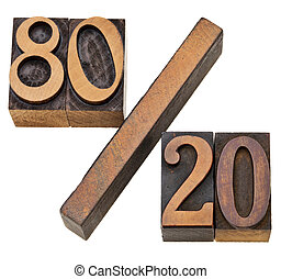 Pareto principle in letterpress type - Pareto principle or...