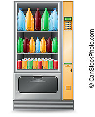 vending water is a machine vector illustration isolated on...