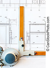Old-fashioned drawing board