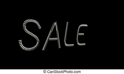 Sale Slogan jewelry ornament design - Sale Slogan made from...