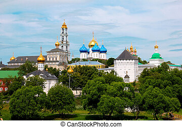 Sergiev Posad monastery - The panoramic view of the Sergiev...