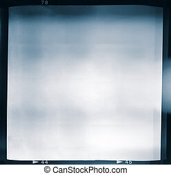 Lightleaked film frame - Blank medium format 6x6 color film...