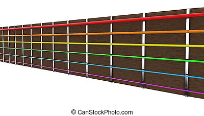 Guitar strings - Illustration of guitar strings of different...