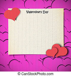 fabric craft card - fabric craft tag with valentine's day