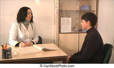 doctor diagnoses the boy 3