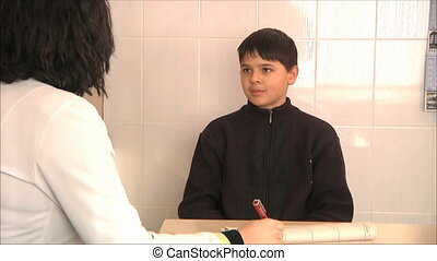 doctor diagnoses the boy 3 - doctor diagnoses the boy
