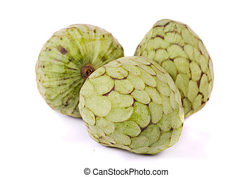 annona fruits - Close up view of annona fruits isolated on a...
