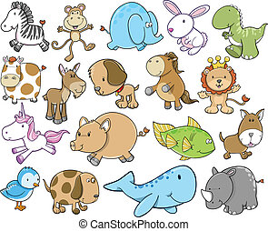 Cute Animal Safari Wildlife set