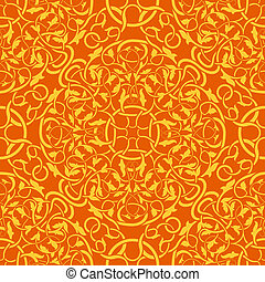 Orange seamless wallpaper pattern