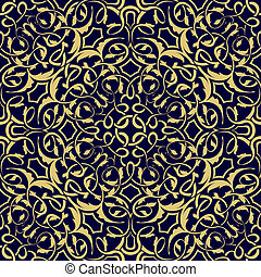 Gold seamless wallpaper pattern