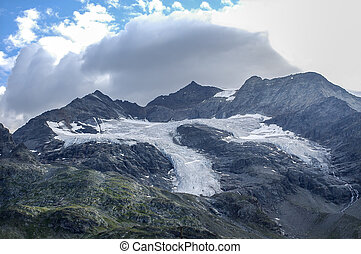Bernina (Switzerland) - Glacier of Bernina (Graubunden,...