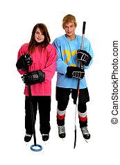 Teenage Ringette and Hockey Players - Tween Ringette and...