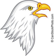 Eagle head - Vector illustration of eagle head