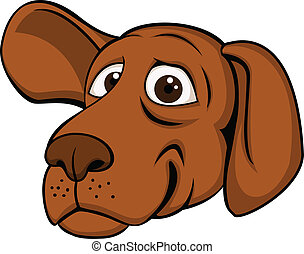 Funny dog head - Vector illustration of funny dog head