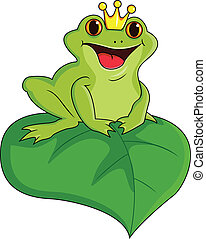King frog - Illustration of green king frog