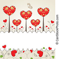 Valentine background - Abstrackt Valentine background with a...
