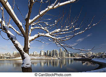 Vancouver in winter - Vancouver and Granville Island in...