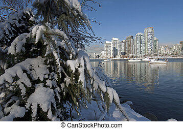 Vancouver in winter - Vancouver and Burrard Inlet in winter