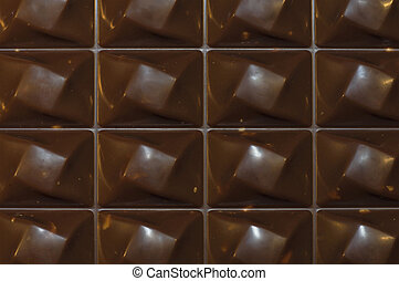 chocolate background - bar of chocolate close-up type...