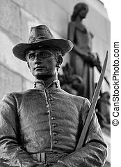 Silver Stature - Statue found close to William Tecumseh...