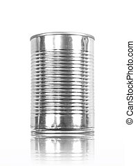 Aluminum Can - An aluminum can top isolated against a white...