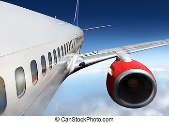 Boeing - wings and engines of aircraft