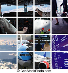airport ambiance - Collage of airport ambiance