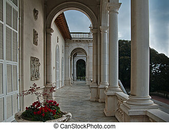 Villa Ormond in Sanremo - the facade of Villa Ormond in...