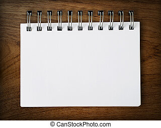 Blank Note paper on Wood background
