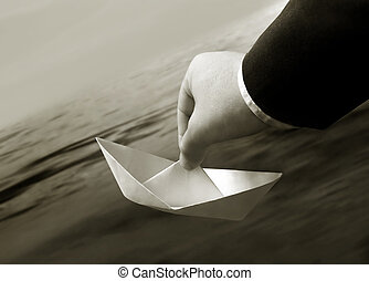 Paperboat - Launching a paperboat