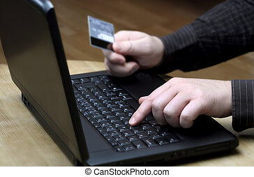 Buying online - buys online using the credit card