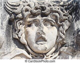 Head of Medusa, Temple of Apollo