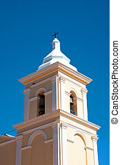 Tower of a rural church - Tower of the church in San Carlos...
