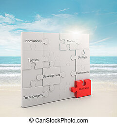 Business puzzle concept - Business puzzle concept 3d and...