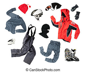 Child skier's clothing - The set of all necessary child's...