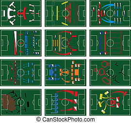 Football Battlefields - Map of the battles on the football...