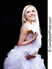 beautiful blond woman - beautiful young blond woman with a...