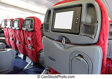 LCD monitor on Passenger Seat of air plane